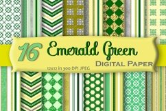 Emerald Green Digital Paper Pack Product Image 1