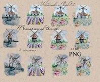 Watercolor Windmill Clipart Product Image 2