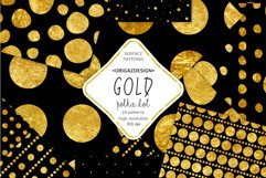 Gold foil Polka dot Black Seamless Pattern Product Image 1