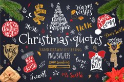Merry Christmas quotes Lettering set Product Image 1