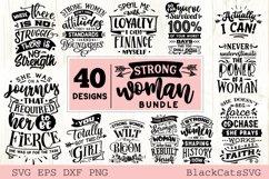 Strong woman SVG bundle 40 designs Product Image 4