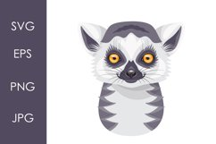 Funny Ring-tailed Lemur Face Product Image 1