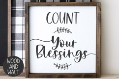 Count Your Blessings SVG | Autumn Cut File Product Image 1