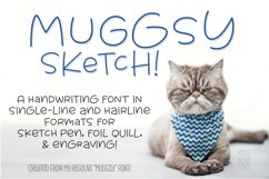Muggsy Sketch - a quirky fun single-line hairline pen font! Product Image 1