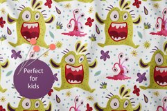 Cute Monster Seamless Pattern Set. Product Image 5