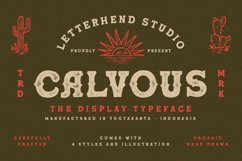 Calvous - Slab Serif Typeface Product Image 1