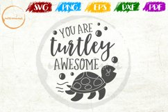 You Are Turtley Awesome Mother's Day Quote Art Product Image 1