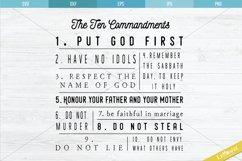 The Ten Commandments SVG, 10 Commandments Cut File Product Image 1