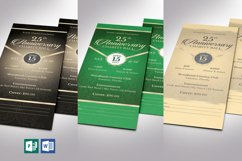 Anniversary Banquet Ticket Bundle Word Publisher Template Product Image 1