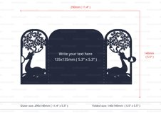 Christmas Reindeer Invitation cutting file Product Image 4