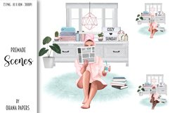 SELF CARE Clipart, Stay Home Fashion Illustration Product Image 8