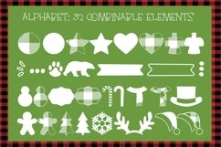 Lumberjack dingbat font, Combinable Christmas elements Product Image 2
