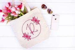 Web Font Floral Spring Monogram Product Image 3