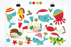 Christmas underwater graphics and illustrations Product Image 2