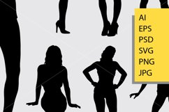 Sexy girl silhouette Product Image 2