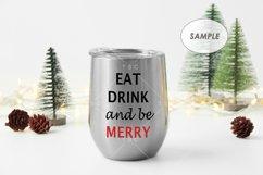 Christmas Wine Tumbler Mockup Product Image 3