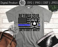 Police Officer Retirement, Cop Retiree, Law Retired SVG PNG Product Image 2