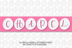Chapel - A Circle Hand Lettered Font Product Image 1