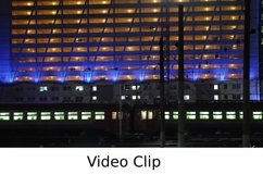 Video: Timelapse of commuter train in the city at night Product Image 1