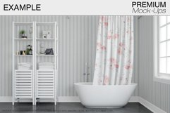 Bath Curtain Mockup Pack Product Image 6