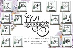 Monogram Handwriting font family Product Image 2