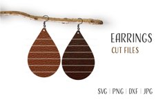 Tear Drop Earrings Svg, Earrings Svg, Teardrop Earrings Svg Product Image 1