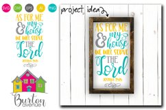We will Serve the Lord SVG File Product Image 1