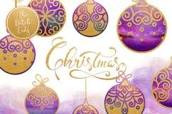 Christmas Balls Ornament Clipart Set Product Image 1