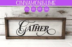Gather Vintage Farmhouse Sign SVG Product Image 1