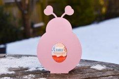 Love bug, Lady bird Easter egg holder design SVG / DXF / EPS Product Image 3