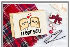 I Loaf You Funny Pun Valentine SVG Product Image 2