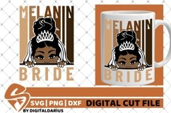 Bride svg, Wedding svg, Black Woman svg, Melanin Sublimation Product Image 1