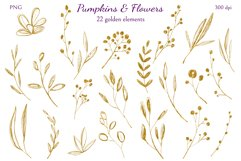 Pumpkins and Flowers Product Image 5