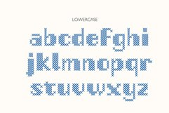 Stitch it up a bold cross-stitch sans serif font Product Image 5