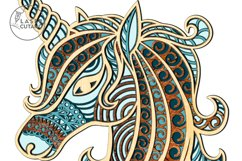 Multilayer Cut File UNICORN for Cricut or Wood Laser Cutting Product Image 4