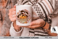 Halloween Cupcake PNG Sublimation PNG Halloween bats PNG Product Image 3