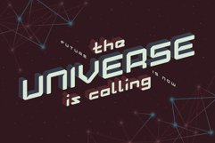 Lost in space. Futuristic typeface Product Image 2