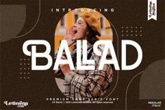 BALLAD - Stylish Sans Serif Font Product Image 1