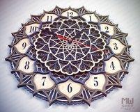 C18 - Laser Cut Wall Clock DXF, Mandala Clock, Wooden Clock Product Image 3