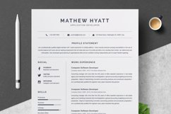 Clean Resume / CV Template Product Image 1