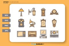 Antique Icons - Filled Outline Product Image 1