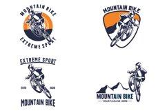 Set of mountain bike logo Product Image 1