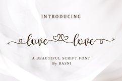Lovelove - Beautiful script font Product Image 1