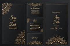 set collection luxury wedding invitation card template Product Image 1