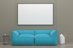 3D Rendered Interior Living Room Mockup Product Image 2