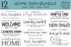 Home Sign Bundle - 12 Home SVG Designs Product Image 1