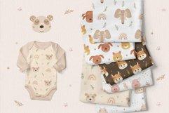 Animal and Rainbow Seamless Patterns, Nursery Digital Paper Product Image 6