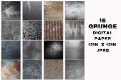 Grunge Metal Textures Digital Paper Product Image 2