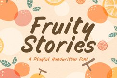 Funny Handwritten Font - Fruity Stories Product Image 1