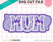 Layered MUM SVG Cut File Product Image 2